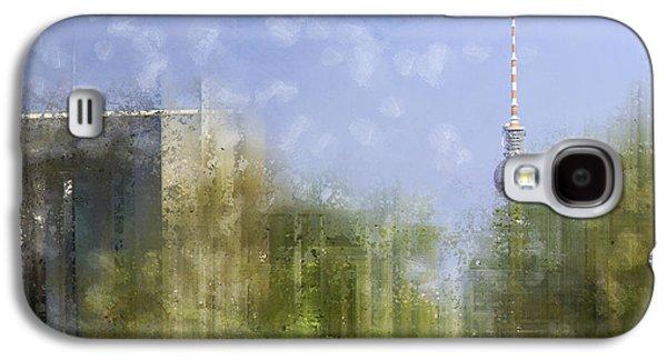Abstract Sights Digital Galaxy S4 Cases - City-Art BERLIN River Spree Galaxy S4 Case by Melanie Viola
