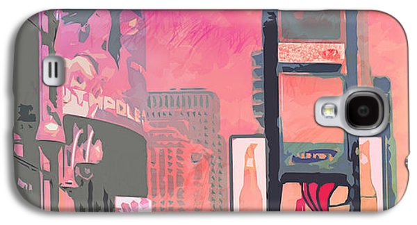 Times Square Digital Art Galaxy S4 Cases - City-Art NY Times Square Galaxy S4 Case by Melanie Viola