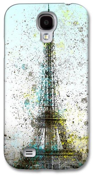Abstract Digital Digital Art Galaxy S4 Cases - City-Art PARIS Eiffel Tower II Galaxy S4 Case by Melanie Viola