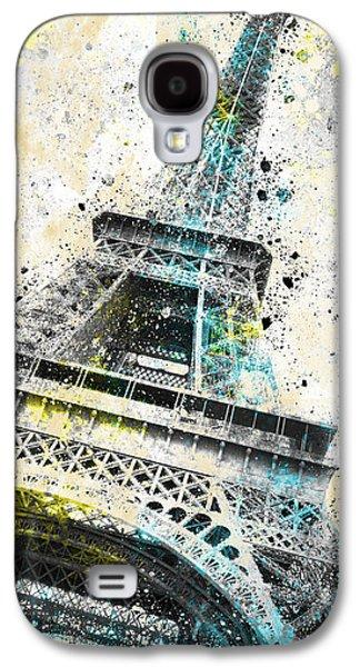 Abstract Digital Art Galaxy S4 Cases - City-Art PARIS Eiffel Tower IV Galaxy S4 Case by Melanie Viola