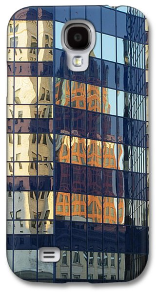 Glass Reflections Galaxy S4 Cases - City Reflections 1 Galaxy S4 Case by Anita Burgermeister