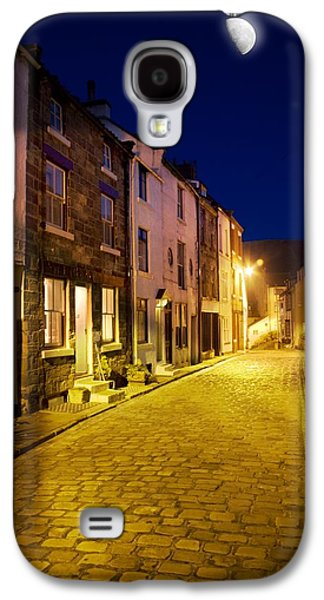 Old Roadway Galaxy S4 Cases - City Street At Night, Staithes Galaxy S4 Case by John Short