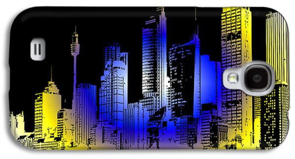 Digital Art Greeting Cards Galaxy S4 Cases - Cityscape 1 Galaxy S4 Case by Evelyn Patrick