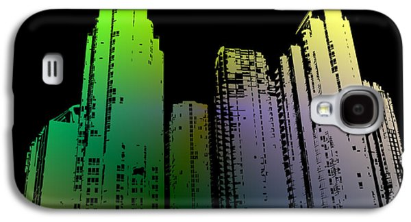 Digital Art Greeting Cards Galaxy S4 Cases - Cityscape 2  Galaxy S4 Case by Evelyn Patrick