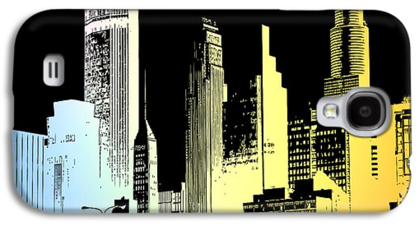 Digital Art Greeting Cards Galaxy S4 Cases - Cityscape 4 Galaxy S4 Case by Evelyn Patrick