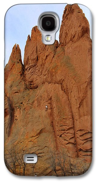 Climbing Galaxy S4 Cases - Climbing with the Gods Galaxy S4 Case by Mike McGlothlen