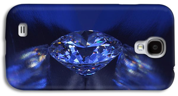 Stones Jewelry Galaxy S4 Cases - Closeup blue diamond in blue light. Galaxy S4 Case by Atiketta Sangasaeng