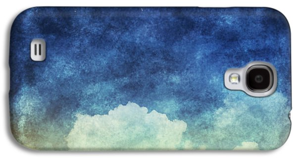 Blue Pastels Galaxy S4 Cases - Cloud And Sky At Night Galaxy S4 Case by Setsiri Silapasuwanchai