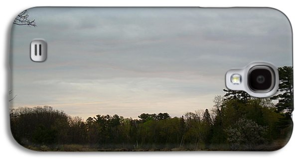 Waterscape Pyrography Galaxy S4 Cases - Cloudy May Mississippi river dawn Galaxy S4 Case by Kent Lorentzen