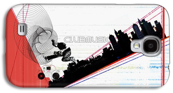 Graphic Mixed Media Galaxy S4 Cases - Clubmusic Galaxy S4 Case by Naxart Studio