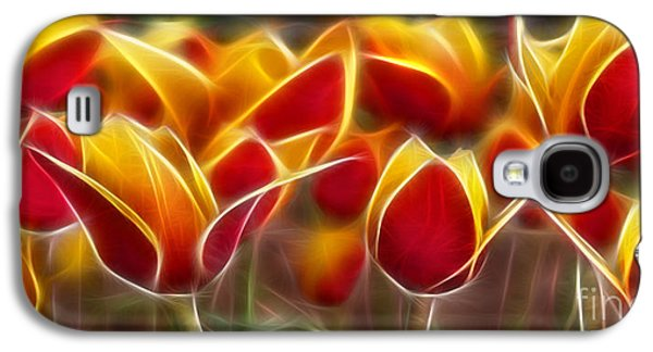 Morphed Galaxy S4 Cases - Cluisiana Tulips Fractal Galaxy S4 Case by Peter Piatt