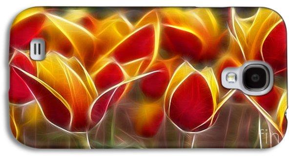 Morph Galaxy S4 Cases - Cluisiana Tulips Fractal Galaxy S4 Case by Peter Piatt