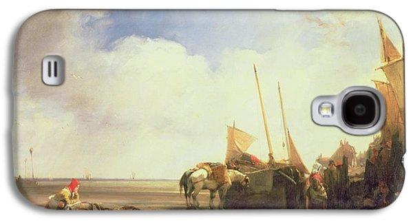 Beach Landscape Galaxy S4 Cases - Coastal Scene in Picardy Galaxy S4 Case by Richard Parkes Bonington