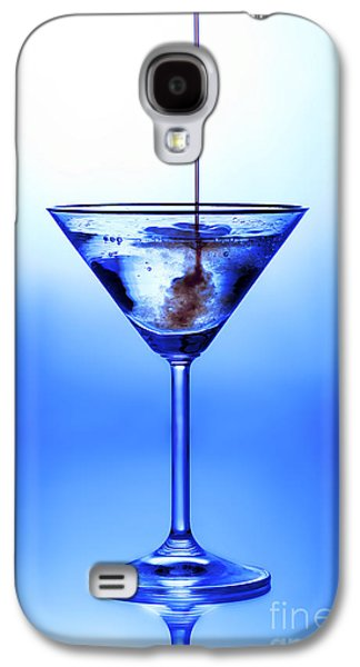 Blue Galaxy S4 Cases - Cocktail being poured Galaxy S4 Case by Jane Rix