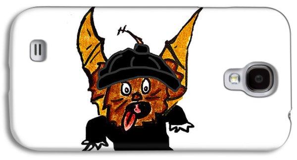 Puppy Digital Art Galaxy S4 Cases - Coco as Thief Galaxy S4 Case by Jera Sky