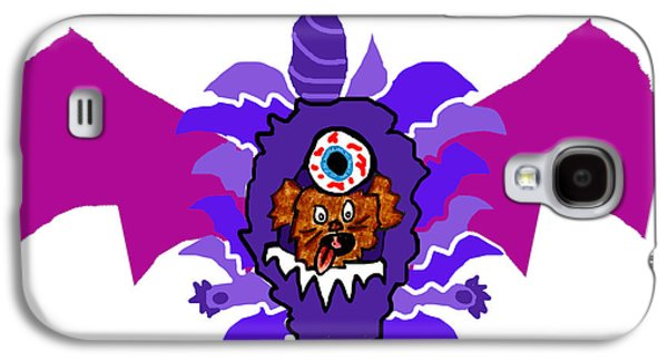 Puppy Digital Art Galaxy S4 Cases - Coco Purple People Eater Costume Galaxy S4 Case by Jera Sky