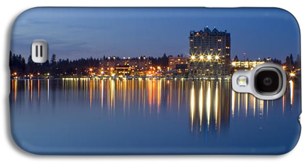 Waterscape Galaxy S4 Cases - Coeur d Alene Night Skyline Galaxy S4 Case by Idaho Scenic Images Linda Lantzy