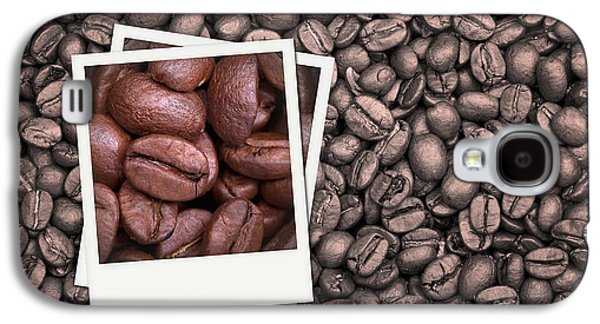 Studio Photographs Galaxy S4 Cases - Coffee beans polaroid Galaxy S4 Case by Jane Rix