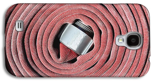 Not In Use Galaxy S4 Cases - Coiled Fire Hose Galaxy S4 Case by Skip Nall