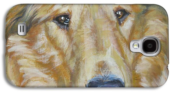 Dog Close-up Paintings Galaxy S4 Cases - Collie close up Galaxy S4 Case by Lee Ann Shepard