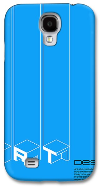 Collin Wright Quote Poster Galaxy S4 Case by Naxart Studio