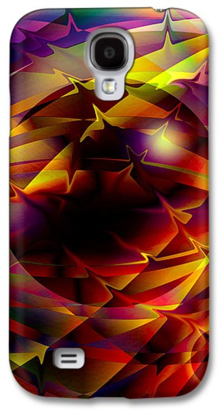 Abstract Digital Galaxy S4 Cases - Color Design  Galaxy S4 Case by Anthony Caruso