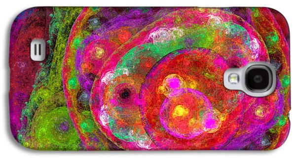 Abstract Digital Galaxy S4 Cases - Color My World Galaxy S4 Case by Andee Design