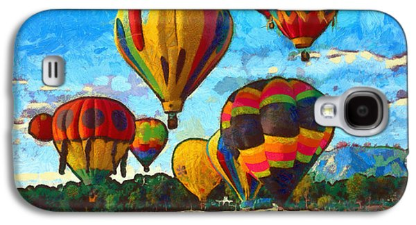 Hot Air Balloon Galaxy S4 Cases - Colorado Springs Hot Air Balloons Galaxy S4 Case by Nikki Marie Smith