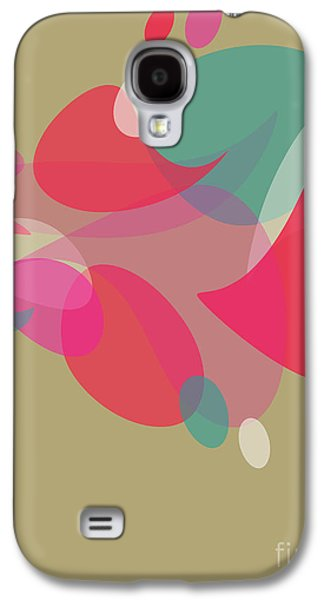 Purple Abstract Beige Galaxy S4 Cases - Colorful Abstraction Galaxy S4 Case by HD Connelly