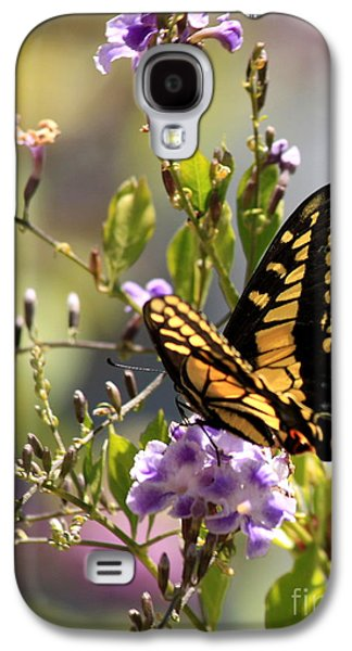 Garden Flowers Galaxy S4 Cases - Colorful Butterfly Galaxy S4 Case by Carol Groenen