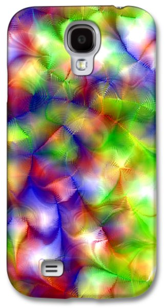 Manley Galaxy S4 Cases - Colorful Fractal Abstract  Galaxy S4 Case by Gina Lee Manley