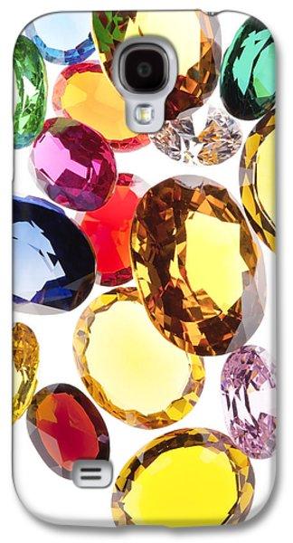 Gift Jewelry Galaxy S4 Cases - Colorful Gems Galaxy S4 Case by Setsiri Silapasuwanchai
