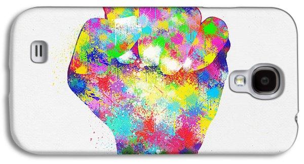 Punch Digital Galaxy S4 Cases - Colorful Painting Of Hand Galaxy S4 Case by Setsiri Silapasuwanchai