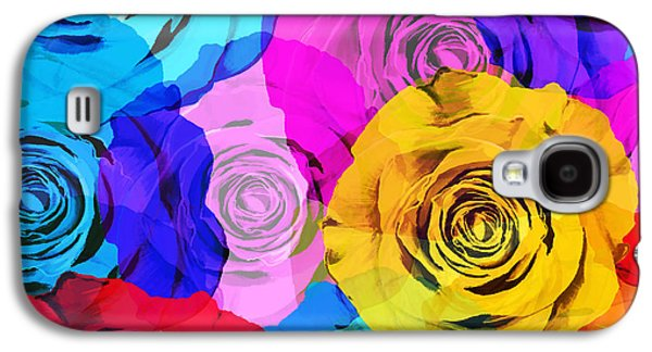 Roses Galaxy S4 Cases - Colorful Roses Design Galaxy S4 Case by Setsiri Silapasuwanchai