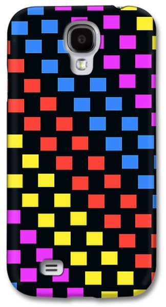 Louisa Galaxy S4 Cases - Colorful Squares Galaxy S4 Case by Louisa Knight