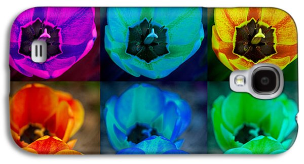 Landscape Acrylic Prints Galaxy S4 Cases - Colorful Tulip Collage Galaxy S4 Case by James BO  Insogna