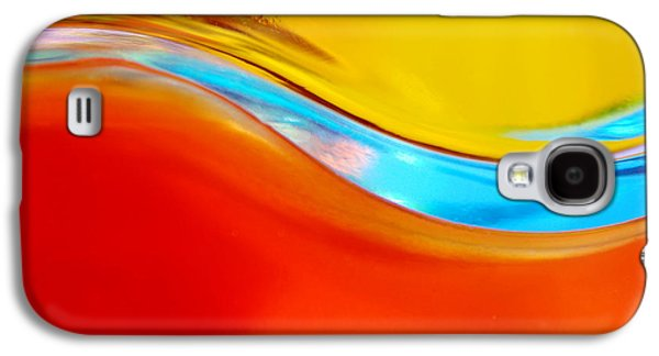 Abstract Movement Photographs Galaxy S4 Cases - Colorful Wave Galaxy S4 Case by Carlos Caetano