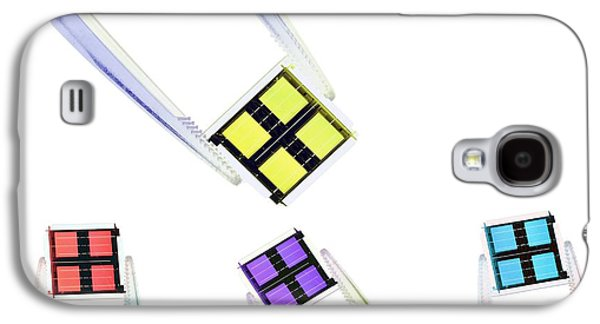 Component Photographs Galaxy S4 Cases - Coloured Microchips Galaxy S4 Case by Gombert, Sigrid