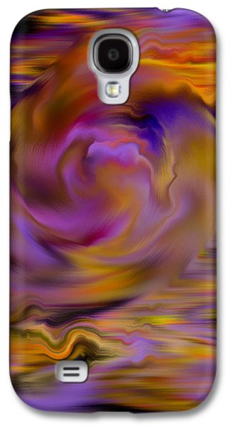 Abstract Digital Paintings Galaxy S4 Cases - Colourful Swirl Galaxy S4 Case by Hakon Soreide