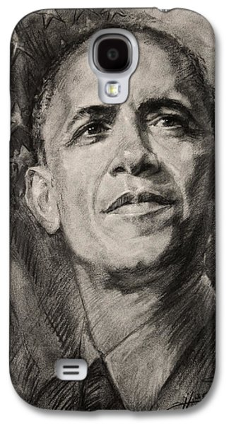 Obama Galaxy S4 Cases - Commander-in-Chief Galaxy S4 Case by Ylli Haruni