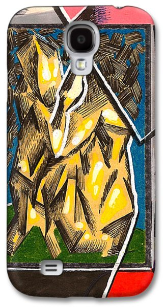 Behind The Scenes Drawings Galaxy S4 Cases - Composition Eight Galaxy S4 Case by Al Goldfarb