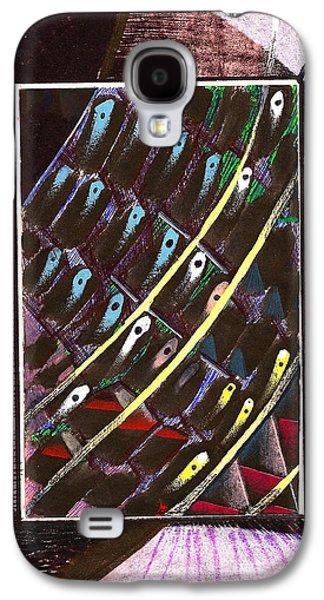 Behind The Scenes Drawings Galaxy S4 Cases - Composition Eleven Galaxy S4 Case by Al Goldfarb