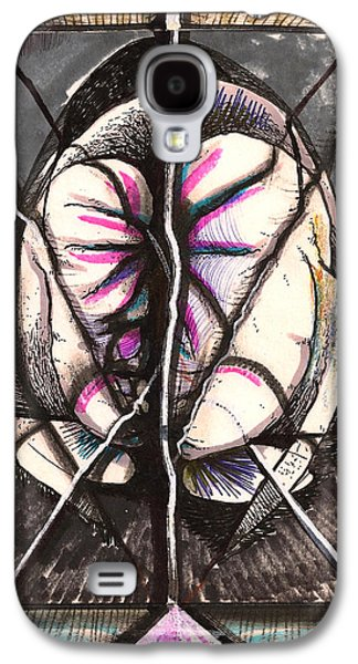 Behind The Scenes Drawings Galaxy S4 Cases - Composition Five Galaxy S4 Case by Al Goldfarb