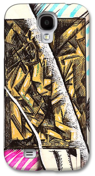 Behind The Scenes Drawings Galaxy S4 Cases - Composition Four Galaxy S4 Case by Al Goldfarb
