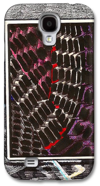 Behind The Scenes Mixed Media Galaxy S4 Cases - Composition One Galaxy S4 Case by Al Goldfarb