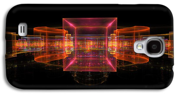 Plastic Galaxy S4 Cases - Computer Generated 3D Abstract Fractal Flame Modern Art Galaxy S4 Case by Keith Webber Jr