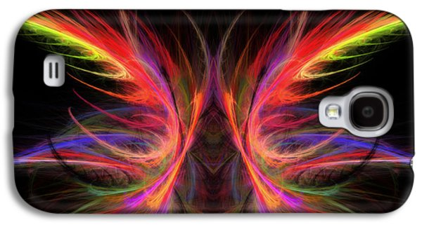 Abstract Digital Photographs Galaxy S4 Cases - Computer Generated Abstract Butterfly Fractal Flame Art Galaxy S4 Case by Keith Webber Jr