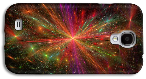 Abstract Digital Photographs Galaxy S4 Cases - Computer Generated Explosion Abstract Fractal Flame Modern art Galaxy S4 Case by Keith Webber Jr