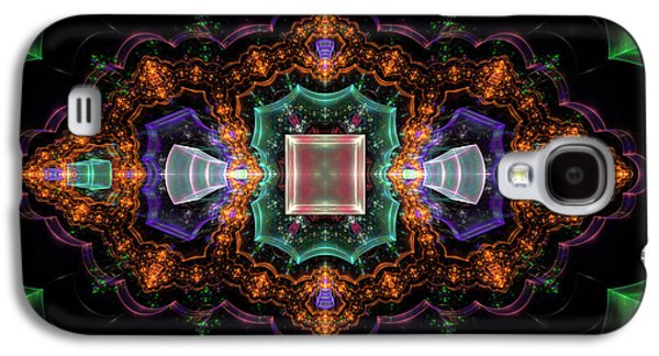 Plastic Galaxy S4 Cases - Computer Generated Orange 3D Abstract Fractal Flame Modern art Galaxy S4 Case by Keith Webber Jr