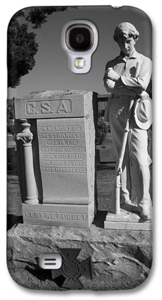 Statue Of Confederate Soldier Galaxy S4 Cases - Confederate Soldier Memorial Galaxy S4 Case by Kathy Clark